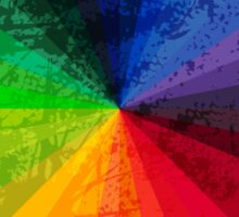 Rainbow Graphic Design Color Wheel Sticker