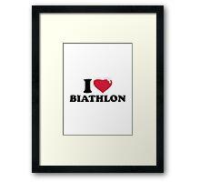 I love Biathlon snow Framed Print
