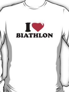 I love Biathlon snow T-Shirt