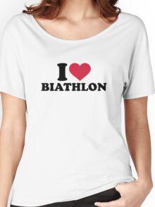 I love Biathlon Women's Relaxed Fit T-Shirt