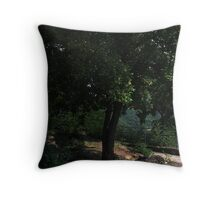 Under the Tree is a Burning Heart Throw Pillow