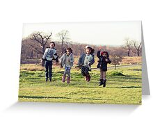 Group of kids jumping Greeting Card