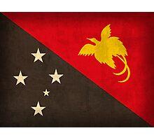 Papua New Guinea Flag Photographic Print