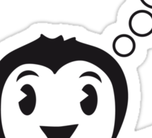 Thought bubble question mark sweet Penguin child Sticker