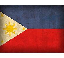 Philippines Flag Photographic Print