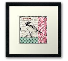 Vintage Songbird 2 Framed Print