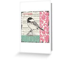 Vintage Songbird 2 Greeting Card