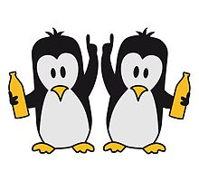 Drunk drinking party team 2 penguins by Style-O-Mat