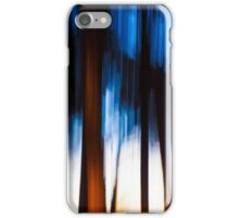 Abstract Nature -  Blurred Trees iPhone Case/Skin
