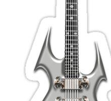 Death Metal Guitar Sticker