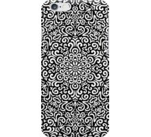 Intricate detailed fantasy black seamless pattern background iPhone Case/Skin