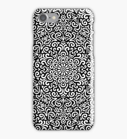 Intricate detailed fantasy black seamless pattern background iPhone Case/Skin