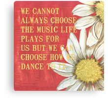 Dictionary Floral 1 Canvas Print