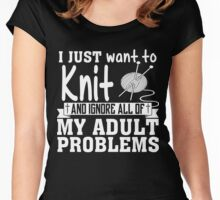 Knitting Women's Fitted Scoop T-Shirt