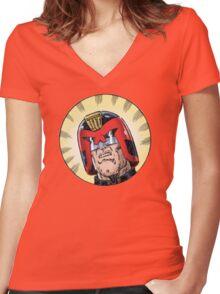 Dredd Women's Fitted V-Neck T-Shirt