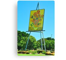 The Big Easel and Painting Canvas Print