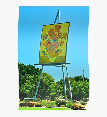 The Big Easel and Painting Poster