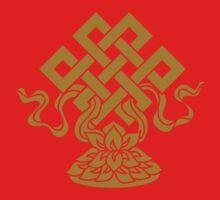 Eternal Knot, Lotus Flower, Buddhism, Auspicious Symbol Kids Tee