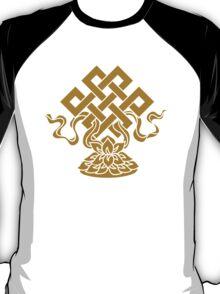 Eternal Knot, Lotus Flower, Buddhism, Auspicious Symbol T-Shirt