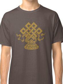 Eternal Knot, Lotus Flower, Buddhism, Auspicious Symbol Classic T-Shirt