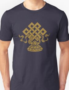 Eternal Knot, Lotus Flower, Buddhism, Auspicious Symbol T-Shirt