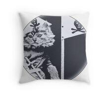 Pirate Cat Roberts Throw Pillow