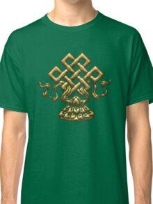 Tibet Endless Knot, Lotus Flower, Buddhism, Eternal Knot Classic T-Shirt
