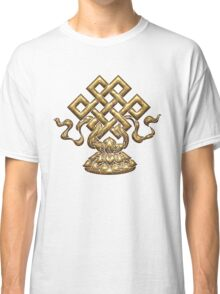 Tibet Endless Knot, Lotus Flower, Buddhism, Eternal Knot Classic T-Shirt