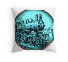 train round Throw Pillow