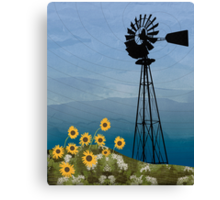 Wind Pump American Style Windmill Canvas Print