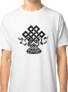 Eternal Knot, Lotus Flower, Buddhism, Lucky Charm Classic T-Shirt