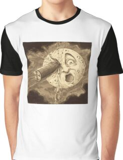 A Voyage to the Moon - Vintage Film Art Graphic T-Shirt