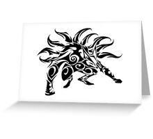 Kurama Tribal Greeting Card