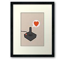 I HEART ATARI Framed Print