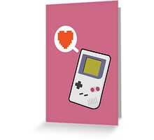 I HEART GAMEBOY Greeting Card