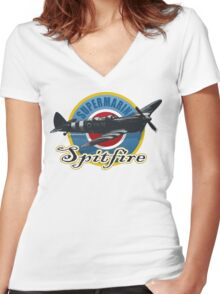 The Spitfire Women's Fitted V-Neck T-Shirt