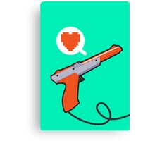 I HEART NES ZAPPER Canvas Print