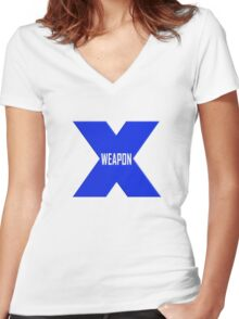 Weapon X Women's Fitted V-Neck T-Shirt