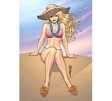 Summer Bikini Girl Pinup by Al Rio Photographic Print