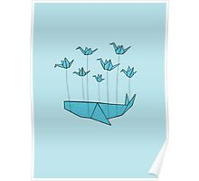 Origami Fail Whale Poster