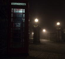 Foggy Phonebox by Jack McQuone