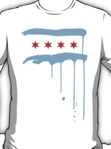 Chicago Flagraffiti - White T-Shirt