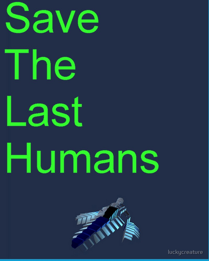 Resogun Save the Last Humans by luckycreature