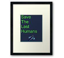 Resogun Save the Last Humans Framed Print