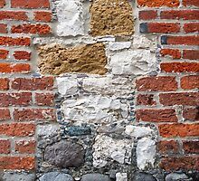 Brick and Stone Wall by Kenneth Keifer
