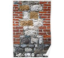 Brick and Stone Wall Poster