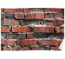 Weathered Rustic Brick Wall Poster