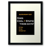 Cool=Stupid-Sort of Framed Print