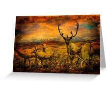 It's a Diorama Deer Greeting Card