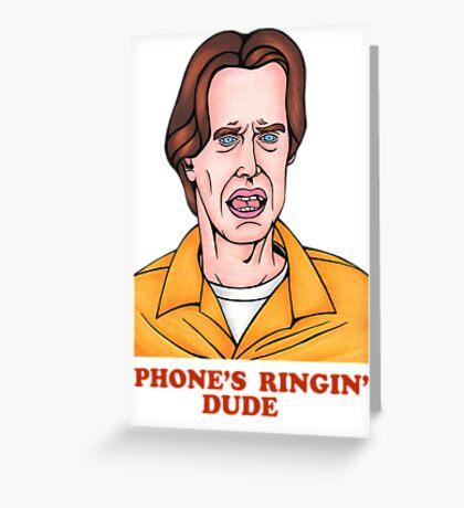 Phone's Ringin' Dude (Color) Greeting Card